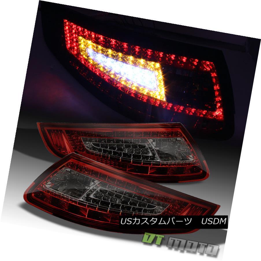 テールライト Red Smoked 05-08 Porsche 997 911 Carrera Led Tail Lights Lamps Left+Right レッドスモーク05-08ポルシェ997 911カレラLedテールライトランプ左+右