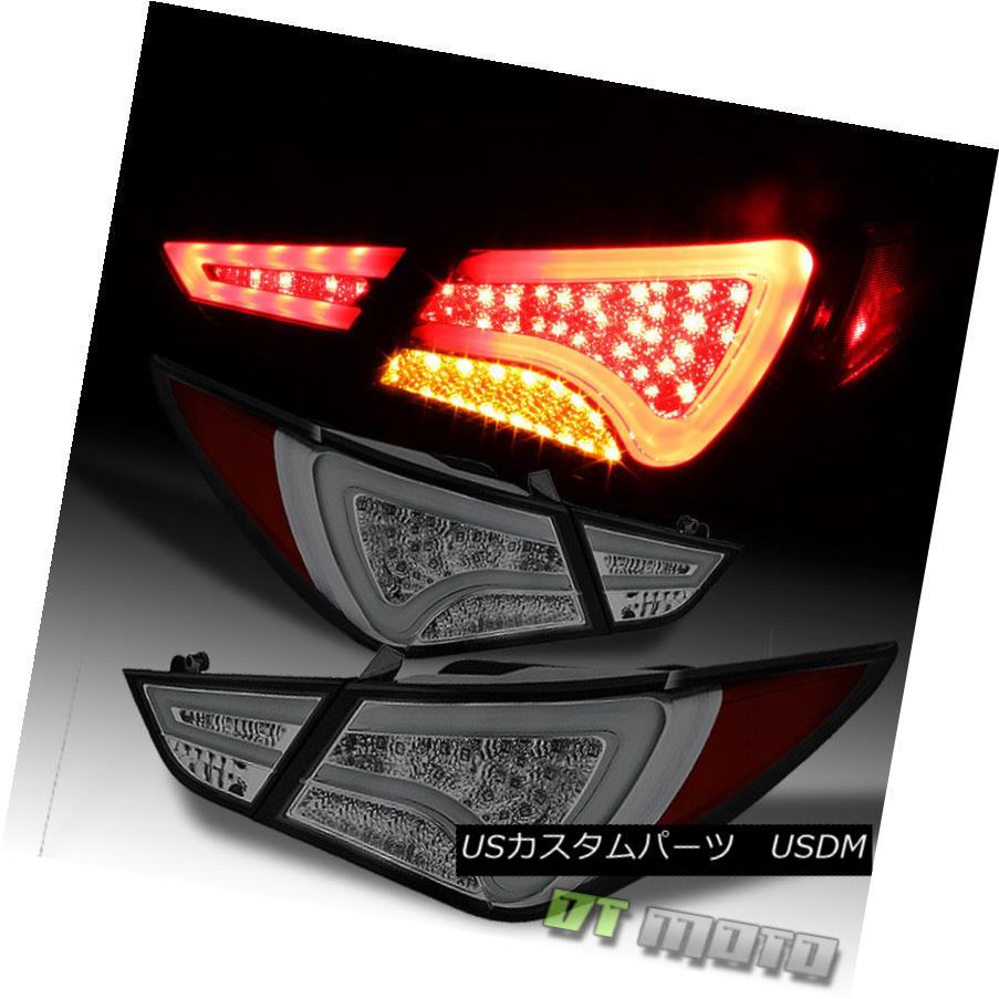 テールライト Smoked Fit 2011-2014 Sonata Philips LED Perform Tail Lights Rear Lamp Left+Right スモークフィット2011-2014ソナタフィリップスLEDテールライトを実行するリアランプ左+右