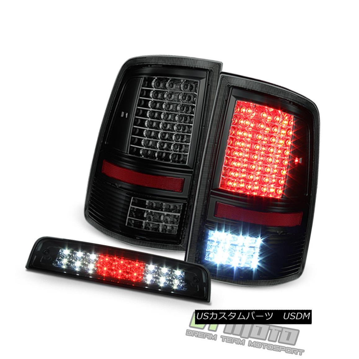 テールライト 2009-2017 Dodge Ram 1500 2500 3500 Full LED Tail Lights+Smoke LED 3rd Brake Lamp 2009-2017 Dodge Ram 1500 2500 3500フルLEDテールライト+スモークLED第3ブレーキランプ