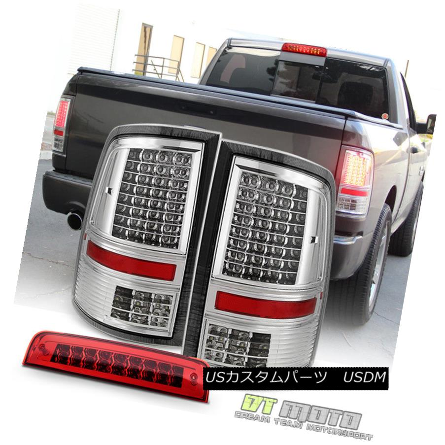 テールライト 2009-2017 Dodge Ram 1500 2500 3500 Full LED Tail Lights+LED 3rd Brake Cargo Lamp 2009-2017 Dodge Ram 1500 2500 3500フルLEDテールライト+ LED第3ブレーキカーゴランプ