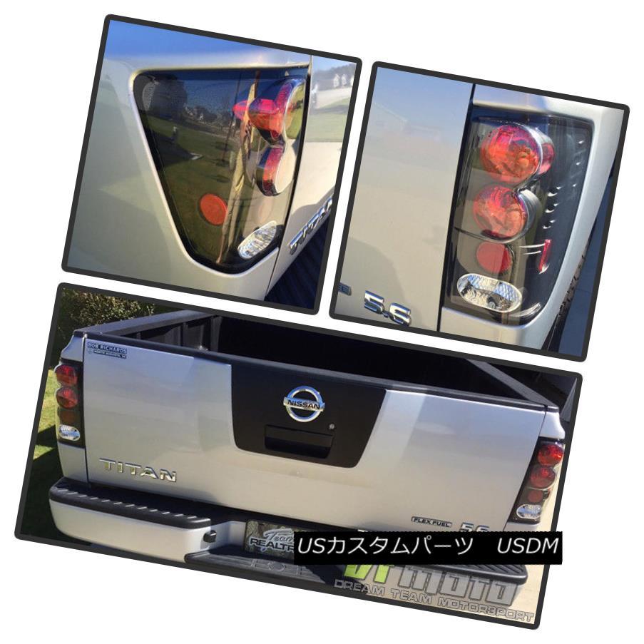 テールライト Black Fit 04-15 Titan Pickup Altezza Tail Lights Lamps Left+Right Pair Set ブラックフィット04-15タイタンピックアップAltezzaテールライトランプ左右セットペア