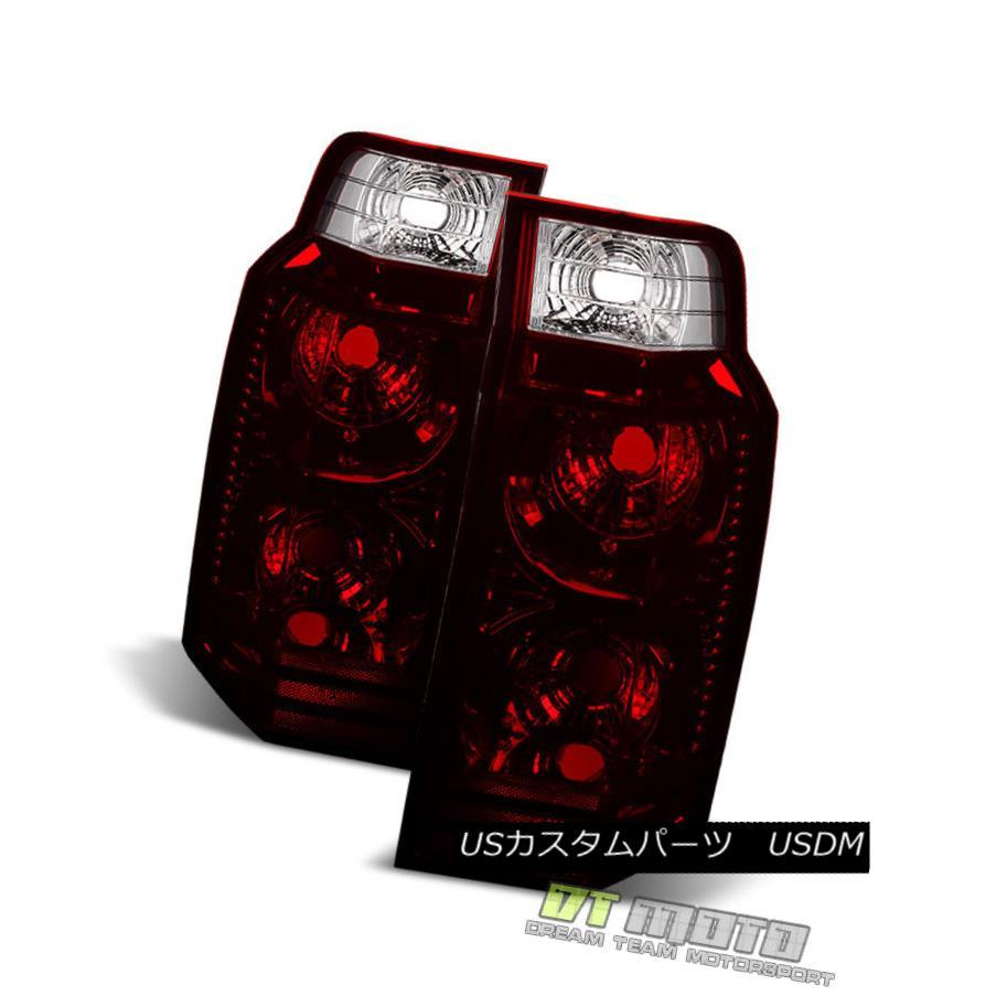 テールライト Red Smoke 2006-2010 Jeep Commander Tail Lights Lamps Aftermarket Rear Left+Right 赤い煙2006-2010ジープコマンダーテールライトランプアフターマーケット後部左+右