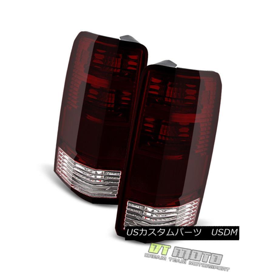 テールライト Replacement For 2007 2008 2009 2010 2011 Dodge Nitro RED SMOKE Tail Lights Lamps 2007年2008年2009年2010年ダッジニトロRED SMOKEテールライトランプの交換