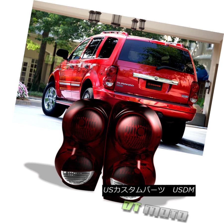テールライト Red Smoke 2004-2009 Dodge Durango Tail Lights Brake Lamps Replacement Left+Right 赤い煙2004-2009ダッジデュランゴテールライトブレーキランプ交換左+右