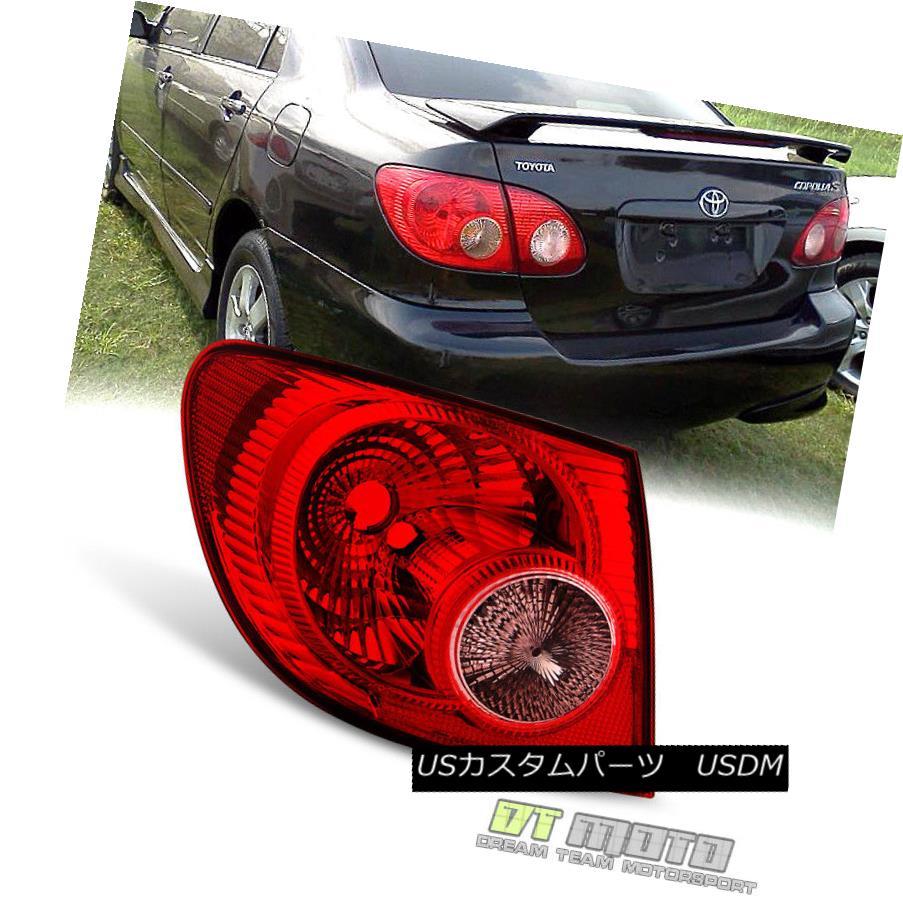 テールライト 2005 2006 2007 2008 Toyota Corolla Tail Light Brake Lamps Outer Rear Driver Side 2005 2006 2007 2008トヨタカローラテールライトブレーキランプアウターリアドライバーサイド