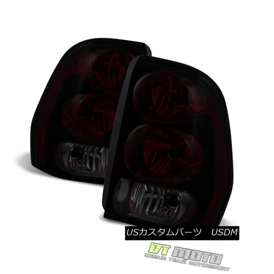 テールライト Red Smoked 2002-2009 Chevy Trailblazer Tail Lights Lamps Left+Right Replacement レッドスモーク2002-2009シボレートレイルブレイカーテールライトランプ左+右置き換え