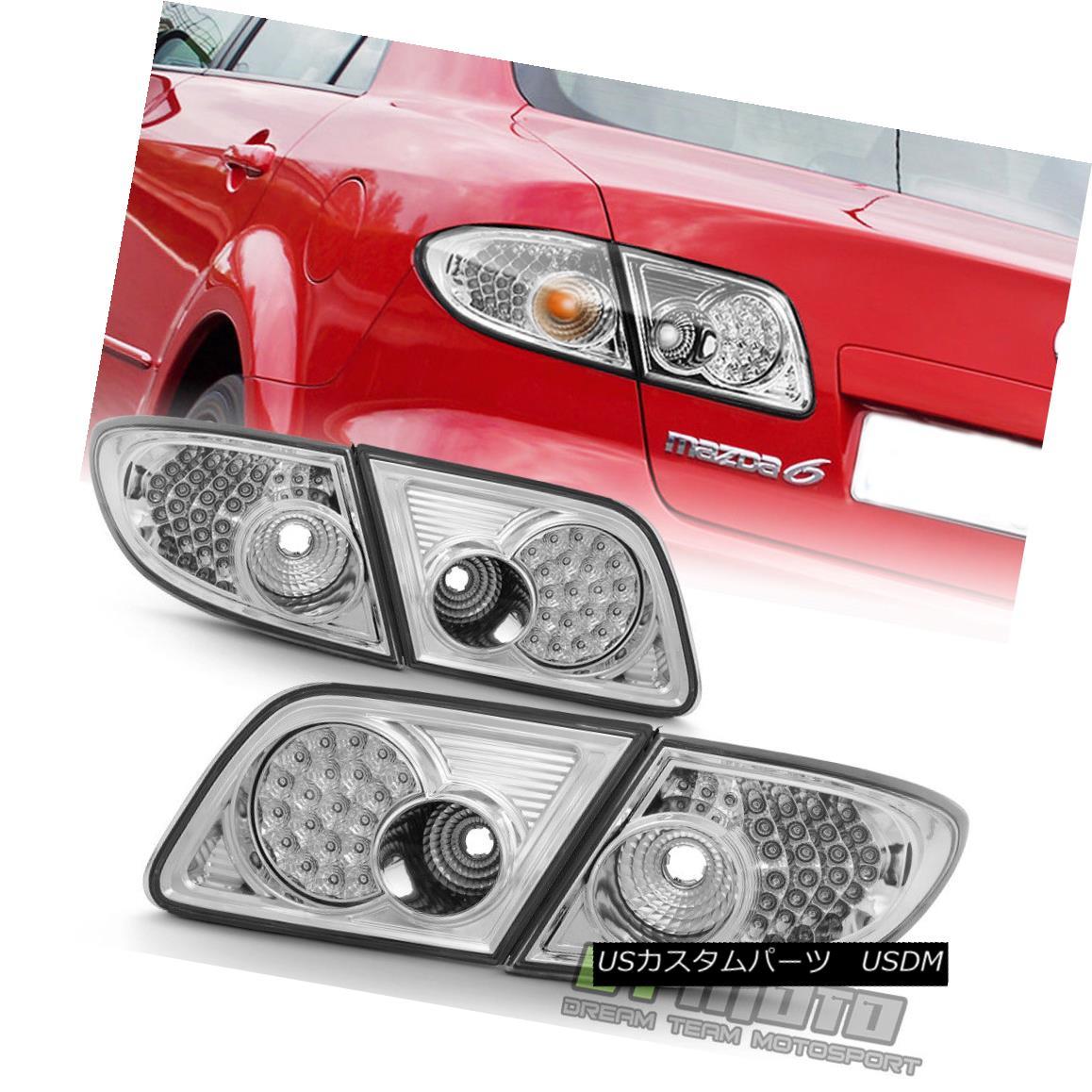 テールライト 2003-2008 Mazda6 Mazda 6 Sedan 6 4-Door Mazda6 LED LED Tail Lights Brake Lamps 4Pcs Set 03-08 2003-2008 Mazda6マツダ6セダン4ドアLEDテールライトブレーキランプ4個セット03-08, e-LIGHT SHOP/いいライトのお店:24d92f19 --- officewill.xsrv.jp
