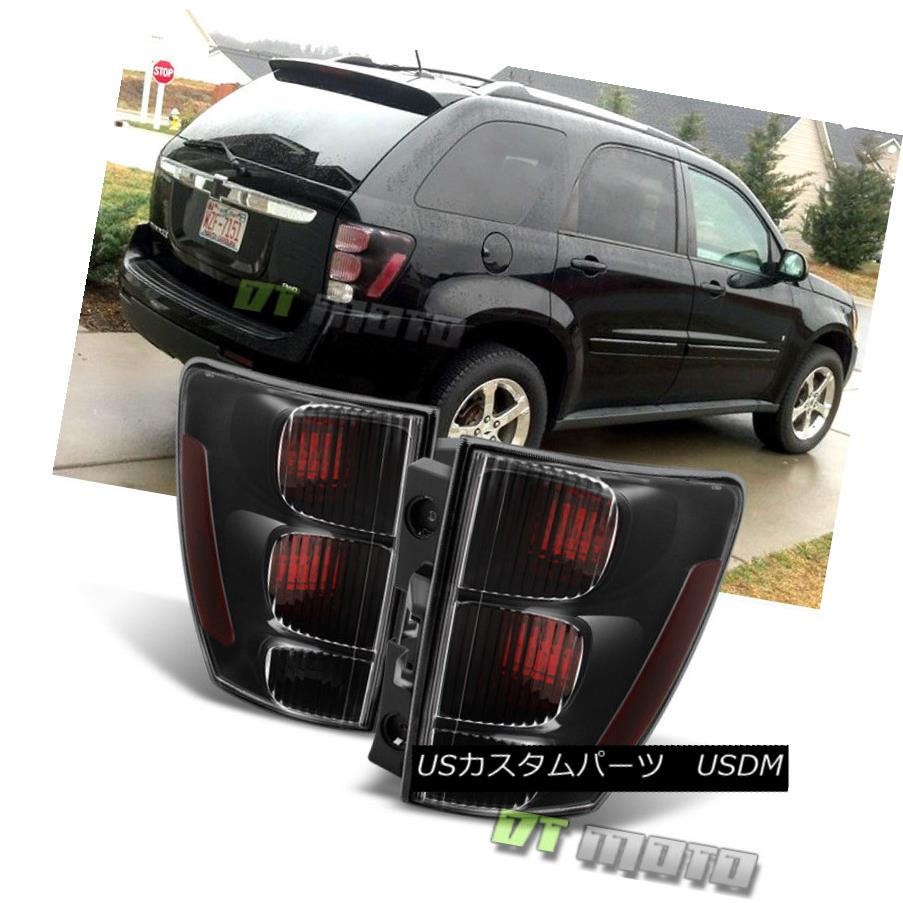 テールライト Blk 2005-2009 Chevy Equinox Tail Lights Brake Lamps Replacement 05-09 Left+Right Blk 2005-2009 Chevy Equinoxテールライトブレーキランプの交換05-09 Left + Right
