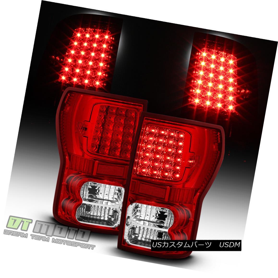 テールライト Truck 2007-2013 Toyota Tundra テールライト Red Toyota Pickup Truck LED Tail Brake Lights Lamps Left+Right 2007-2013 Toyota TundraレッドピックアップトラックLEDテールブレーキライトランプ左+右, 会津坂下町:8c8d510e --- officewill.xsrv.jp