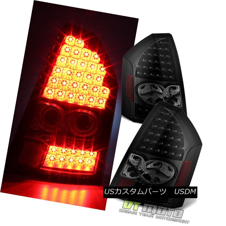 テールライト {Black Smoke} 2005-2007 Chrysler 300C SRT8 LED Tail Lights Brake Lamp Left+Right {ブラックスモーク} 2005-2007クライスラー300C SRT8 LEDテールライトブレーキランプ左+右