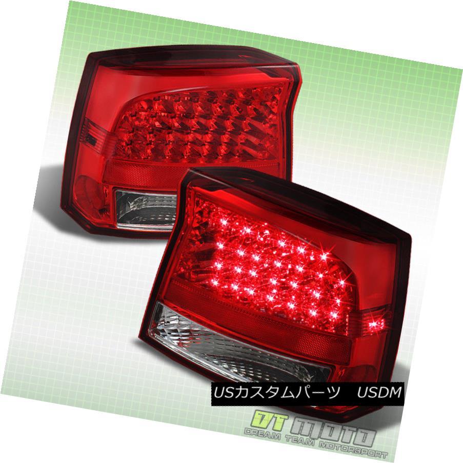 テールライト 2006-2008 Dodge Charger Red Clear Led Tail Brake Lights Lamps Pair Left + Right 2006-2008ダッジチャージャーレッドクリアテールブレーキライトランプペア左右+右
