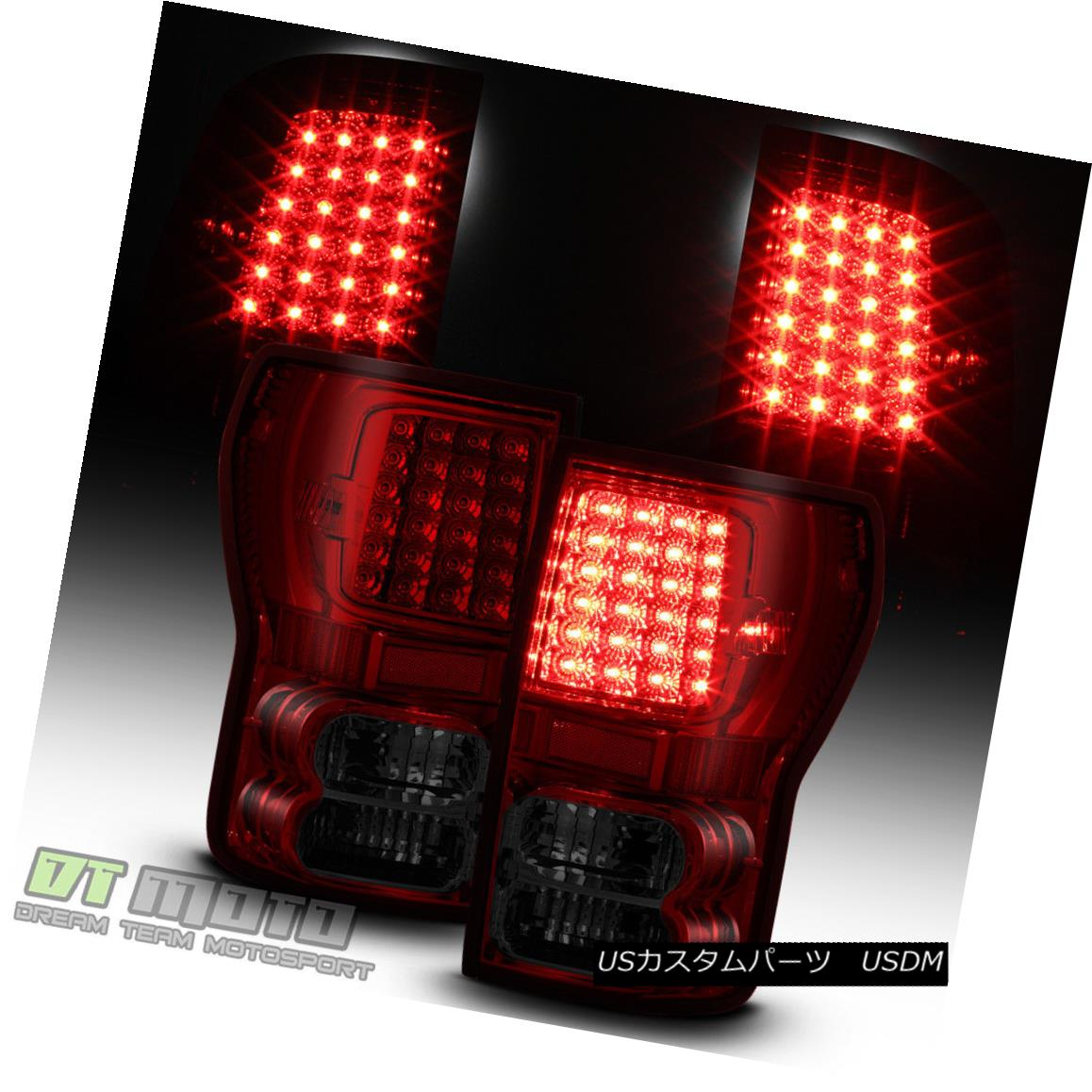 テールライト Tail 2007-2013 Toyota Tundra Tundra Red Smoked Smoked LED Tail Lights Brake Lamps Left+Right Set 2007-2013トヨタトンドラレッドスモークLEDテールライトブレーキランプ左+右セット, STAB BLUE ENTERPRISE:6258b66e --- officewill.xsrv.jp