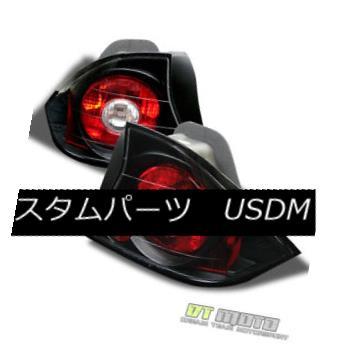 テールライト For Black 2001-2003 Honda Civic 2Dr Coupe Dx Ex Lx Si Hx Tail Lights Brake Lamps ブラック2001-2003用ホンダシビック2DrクーペDx Ex Lx Si Hxテールライトブレーキランプ