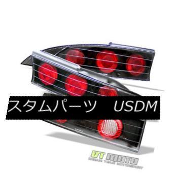 テールライト Fits Black 95-99 Mitsubishi Eclipse Altezza Tail Lights Lamps w/Center Trunk Pc フィットブラック95-99三菱Eclipse AltezzaテールライトランプセンタートランクPc