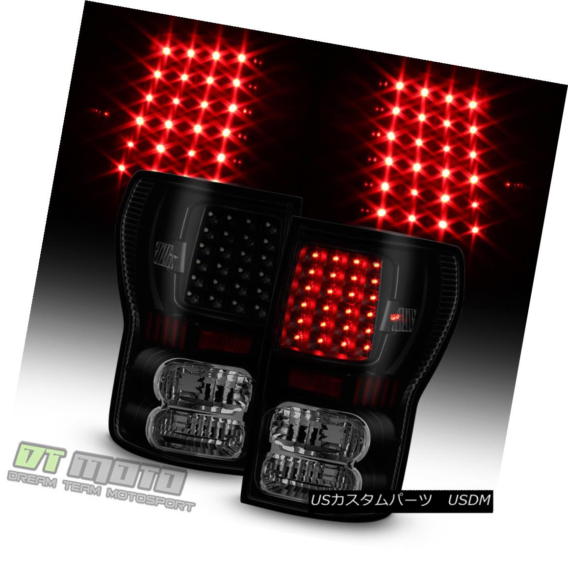 テールライト 2007-2013 Toyota Tundra LED Black Smoke Tail Lights Brake Lamps 07-13 Left+Right 2007-2013 Toyota Tundra LEDブラックスモークテールライトブレーキランプ07-13 Left + Right