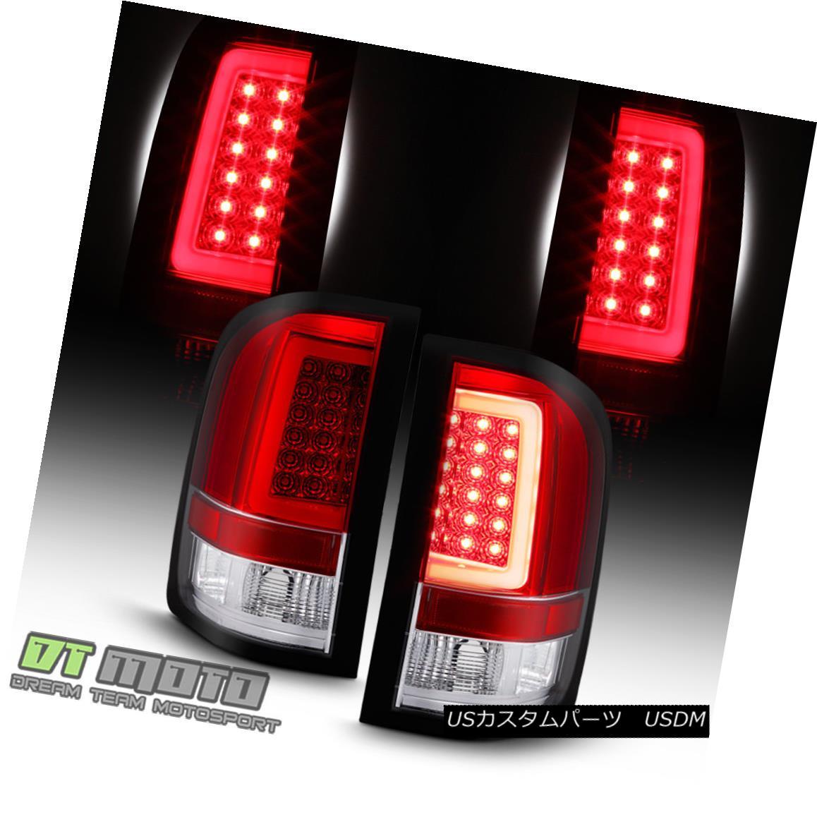 テールライト Red 2007-2013 Chevy Silverado 1500 2500HD LED Tube Tail Lights Lamps Left+Right レッド2007-2013シボレーシルバラード1500 2500HD LEDチューブテールライトランプ左+右