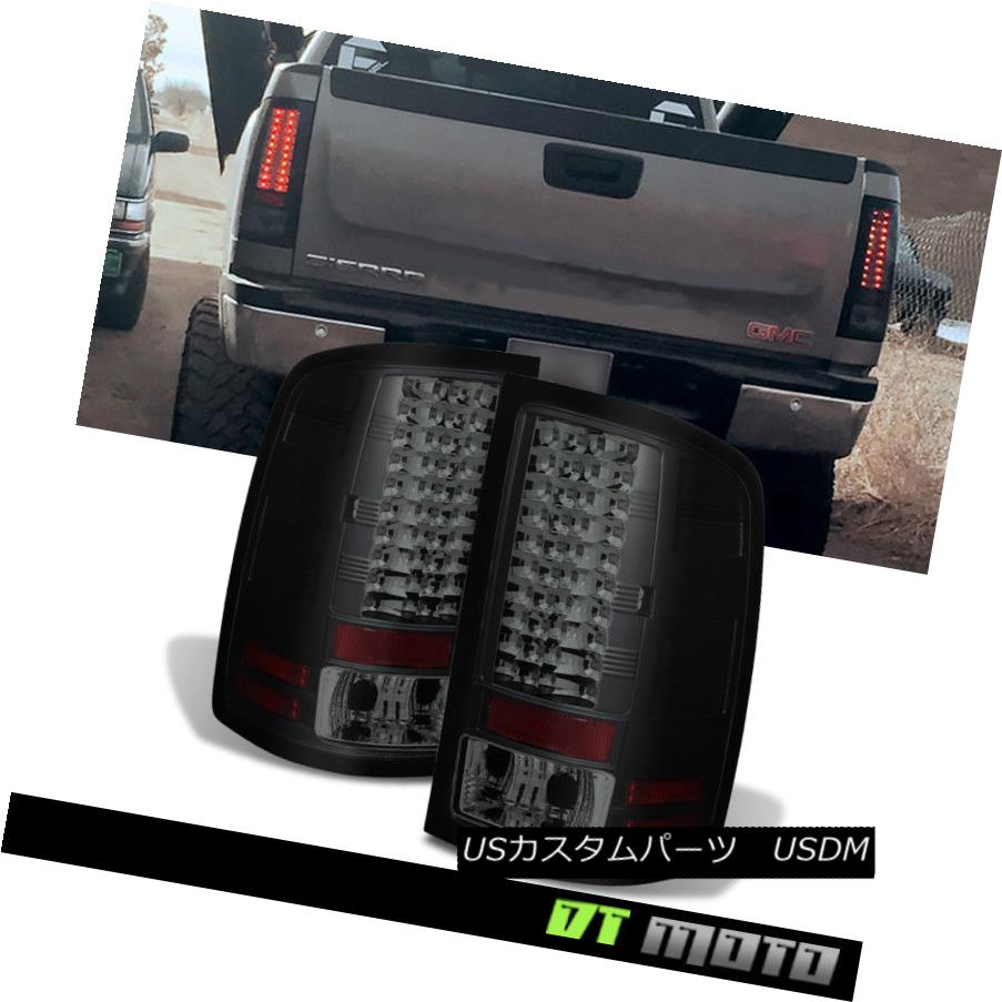 テールライト Black Smoked 2007-13 Gmc Sierra Philips Lumileds Led Tail Lights Lamp Left+Right ブラックスモーク2007-13 Gmc Sierra Philips Lumileds LedテールライトランプLeft + Right