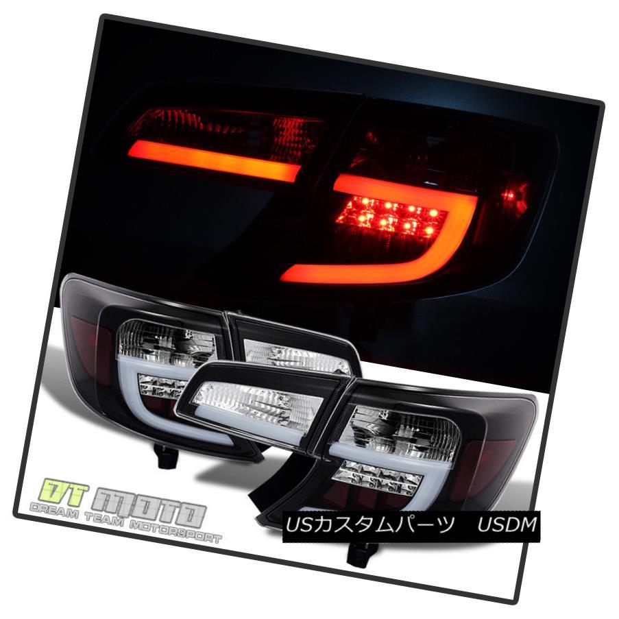 テールライト Black 2012-2014 Toyota Camry Lumileds LED Bar Tail Lights Brake Lamps Left+Right ブラック2012-2014トヨタカムリLumileds LEDバーテールライトブレーキランプ左+右