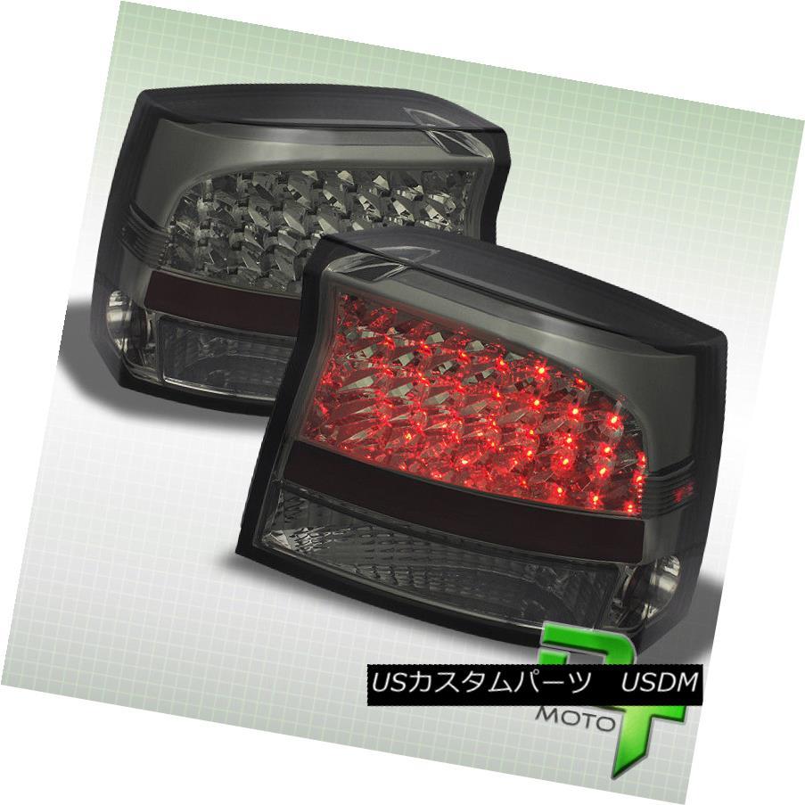 テールライト 2009-2010 Dodge Charger RT/SE Smoke LED Tail Lights Brake Lamps 09-10 Left+Right 2009-2010ダッジチャージャRT / SEスモークLEDテールライトブレーキランプ09-10左+右