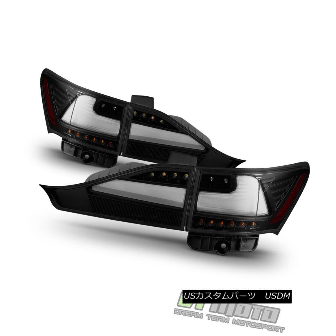 テールライト Black Smoke 2011-2014 Lexus CT200h LED Light Tube Tail Lights +Trunk 4pcs sets ブラックスモーク2011-2014レクサスCT200h LEDライトチューブテールライト+トランク4個セット