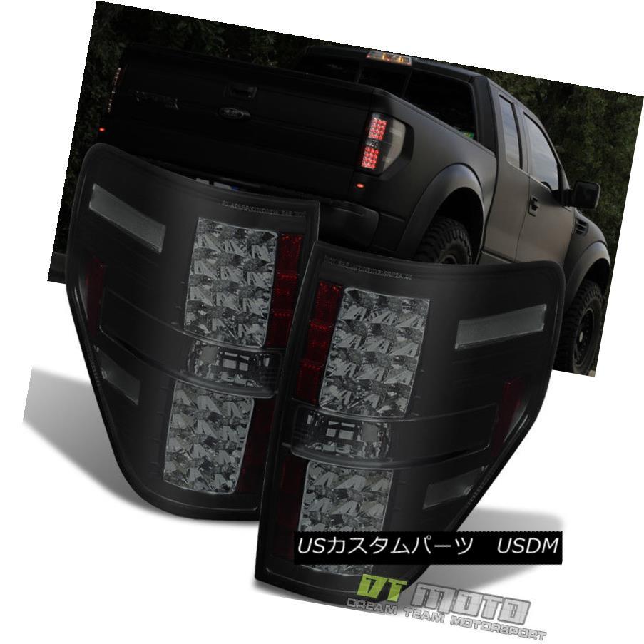 テールライト Black Smoked LED 2009-14 F150 Styleside Philips-Lumileds Tail Lights Brake Lamps ブラックスモークLED 2009-14 F150 Styleside Philips-Lumile dsテールライトブレーキランプ