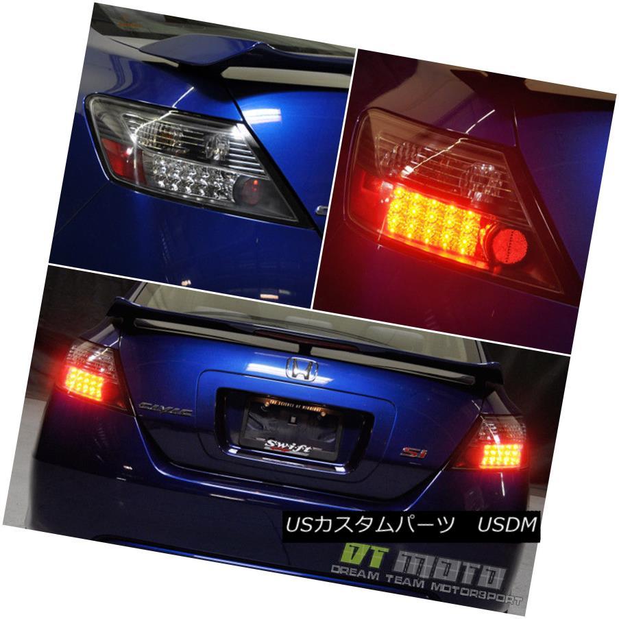 テールライト For Black 2006-2011 Honda Civic Coupr Philips LED Tail Lights Lamps Left+Right ブラック2006-2011ホンダシビッククーペフィリップスLEDテールライトランプ左+右
