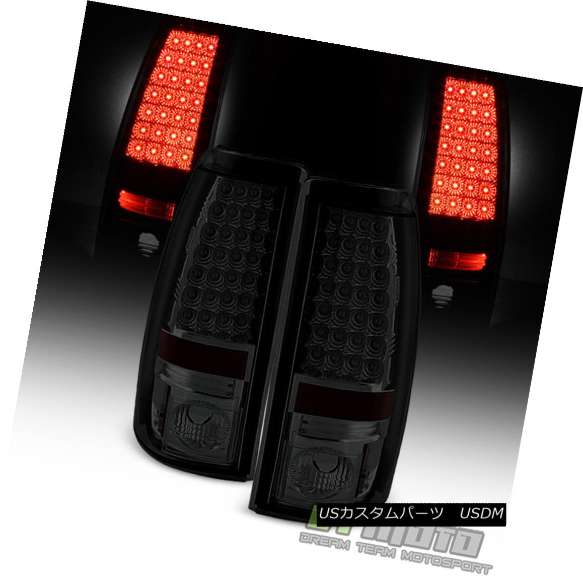 テールライト Smoked 1999-2002 Chevy Silverado 99-06 GMC Sierra Lumileds LED Tail Lights Lamps スモーク1999-2002シボレーシルバラード99-06 GMC Sierra Lumileds LEDテールライトランプ