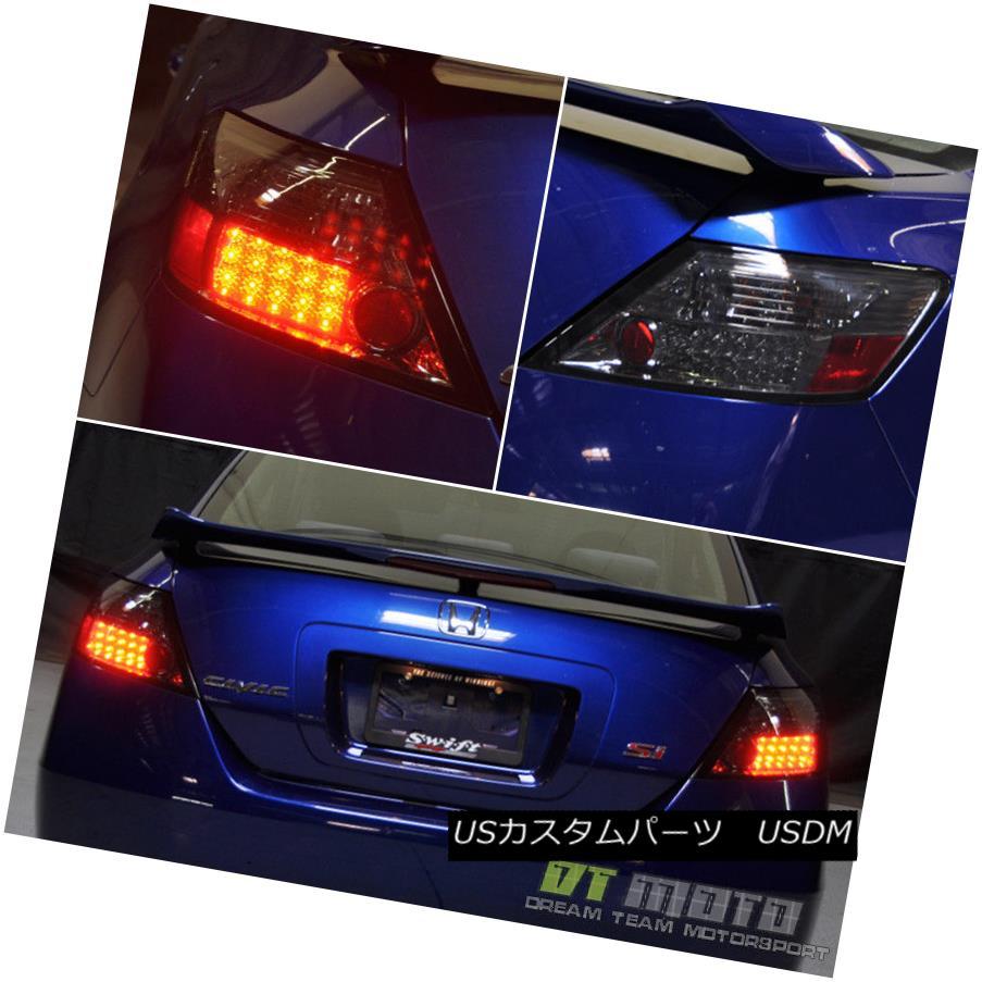 テールライト For Smoke 2006-2011 Honda Civic Coupe Lumileds LED Tail Lights Lamps Left+Right 煙のために2006年から2011年ホンダシビッククーペLumileds LEDテールライトランプ左+右