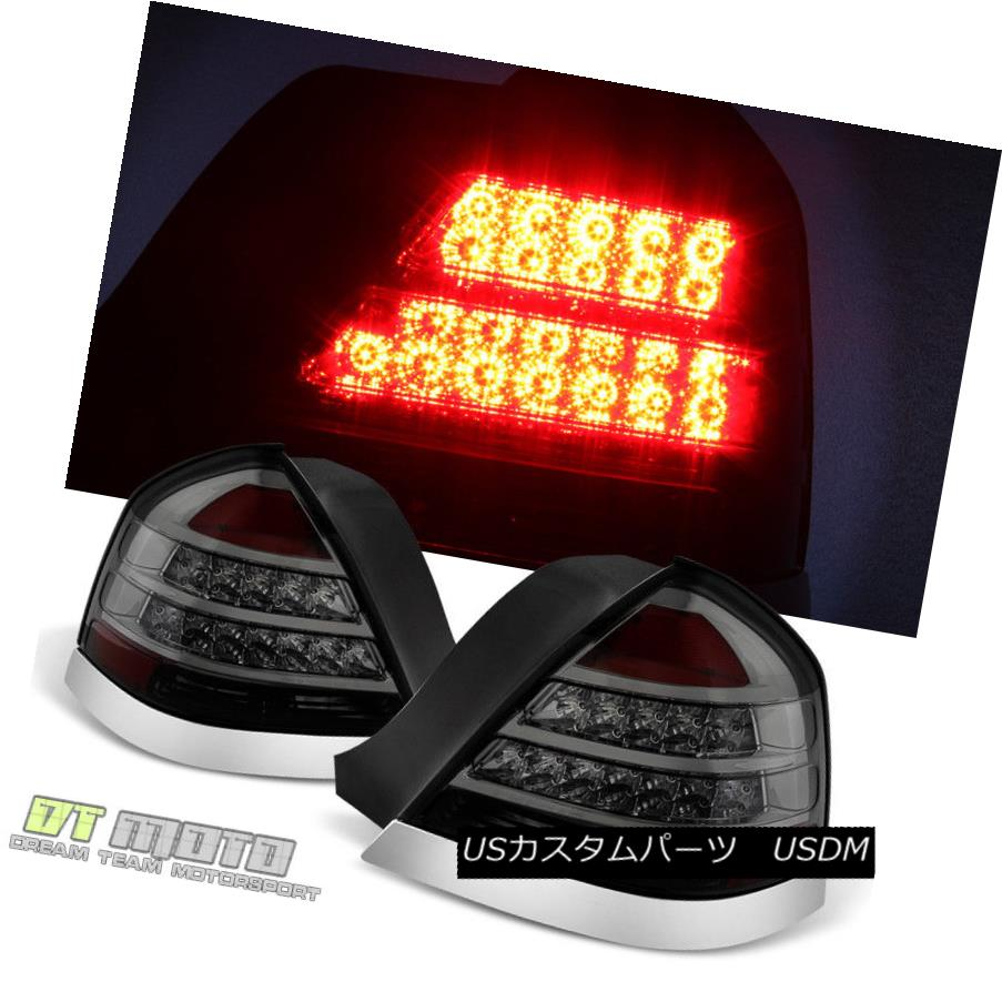 テールライト [Smoke] Fits 1998-2011 Ford Crown Victoria Led Tail Lights Tail Lamps Left+Right [スモーク]フィット1998年から2011年フォードクラウンビクトリアライトテールライトテールランプ左+右
