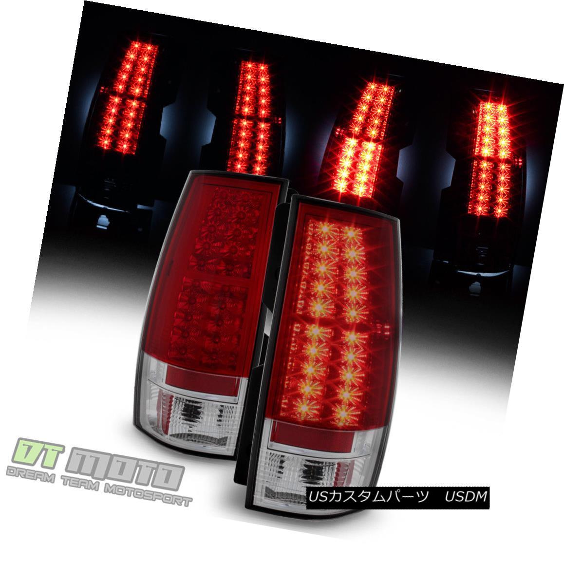 テールライト 2007-2014 Chevy Suburban Tahoe GMC Yukon Lumileds LED Red Tail Lights Left+Right 2007-2014シボレー郊外のタホGMCユーコンLumileds LEDレッドテールライト左+右