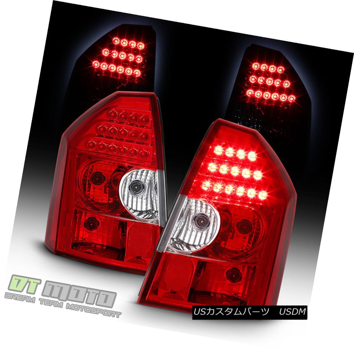 テールライト 2005 2006 2007 Chrysler 300C Red Clear LED Tail Lights Brake Lamps Left+Right 2005 2006 2007クライスラー300CレッドクリアLEDテールライトブレーキランプ左+右