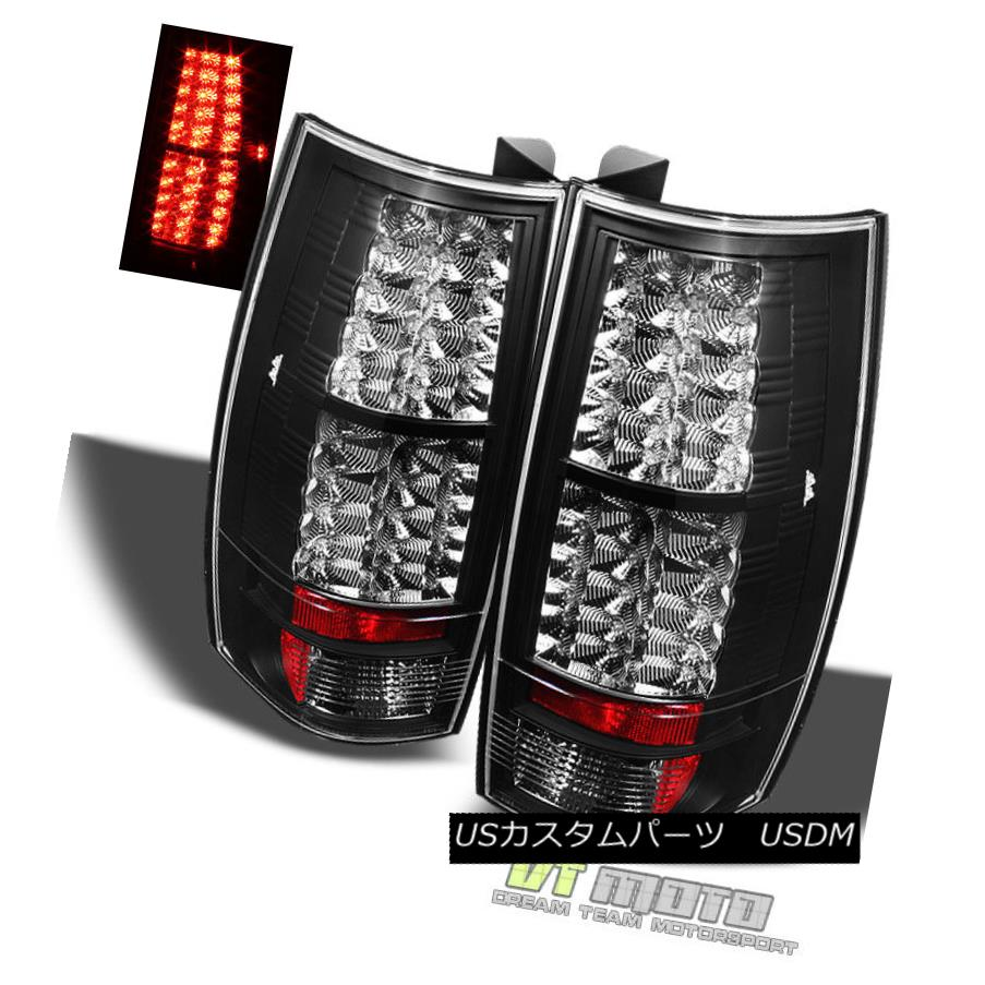 テールライト Black 07-14 Suburban Tahoe Yukon Philips-Led Perform Tail Lights Lamp Left+Right 黒07-14郊外のTahoe Yukon Philips-Ledテールライトランプ左+右