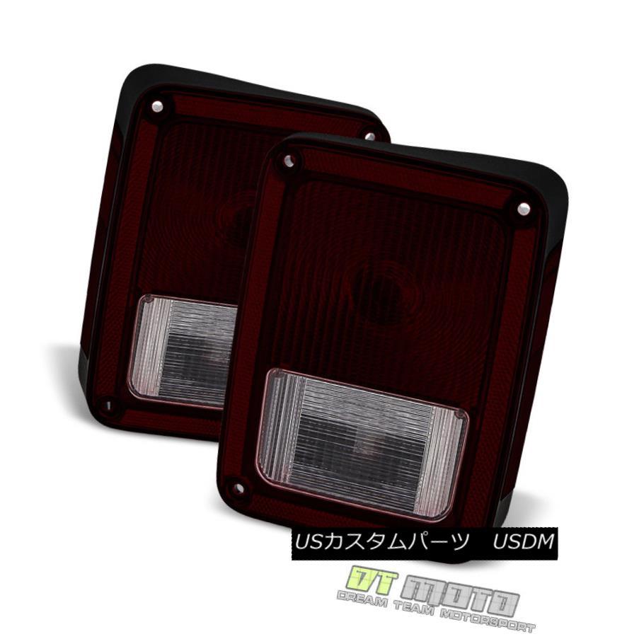 テールライト Black Tinted 2007-2017 Jeep Wrangler JK Tail Lights Brake Lamps 07-17 Left+Right Black Tinted 2007-2017 Jeep Wrangler JKテールライトブレーキランプ07-17 Left + Right