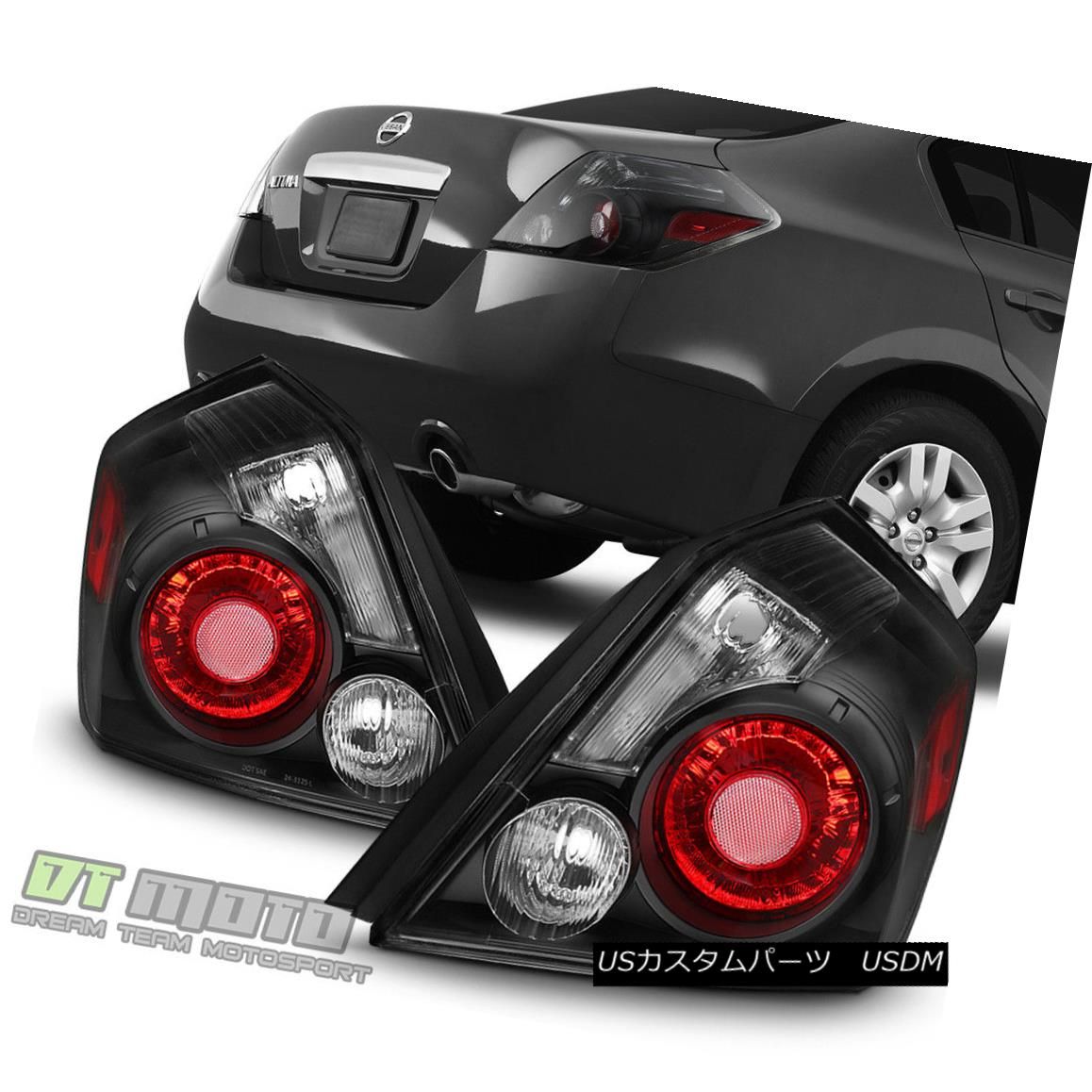 テールライト Black Housing w/Smoke Signal Lens For 2007-2012 Altima Sedan Tail Lights Lamps 2007年から2012年までの煙信号レンズを備えた黒い住宅Altima Sedan Tail Lights Lamps
