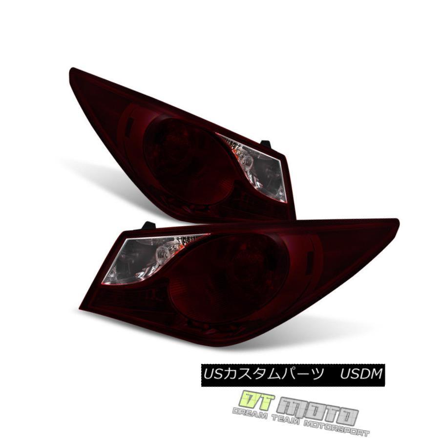 テールライト Red Smoke For 2011 2012 2013 2014 Sonata Outer Tail Lights Brake Lamps 11-14 Set Red Smoke For 2011 2012 2013 2014ソナタアウターテールライトブレーキランプ11-14セット