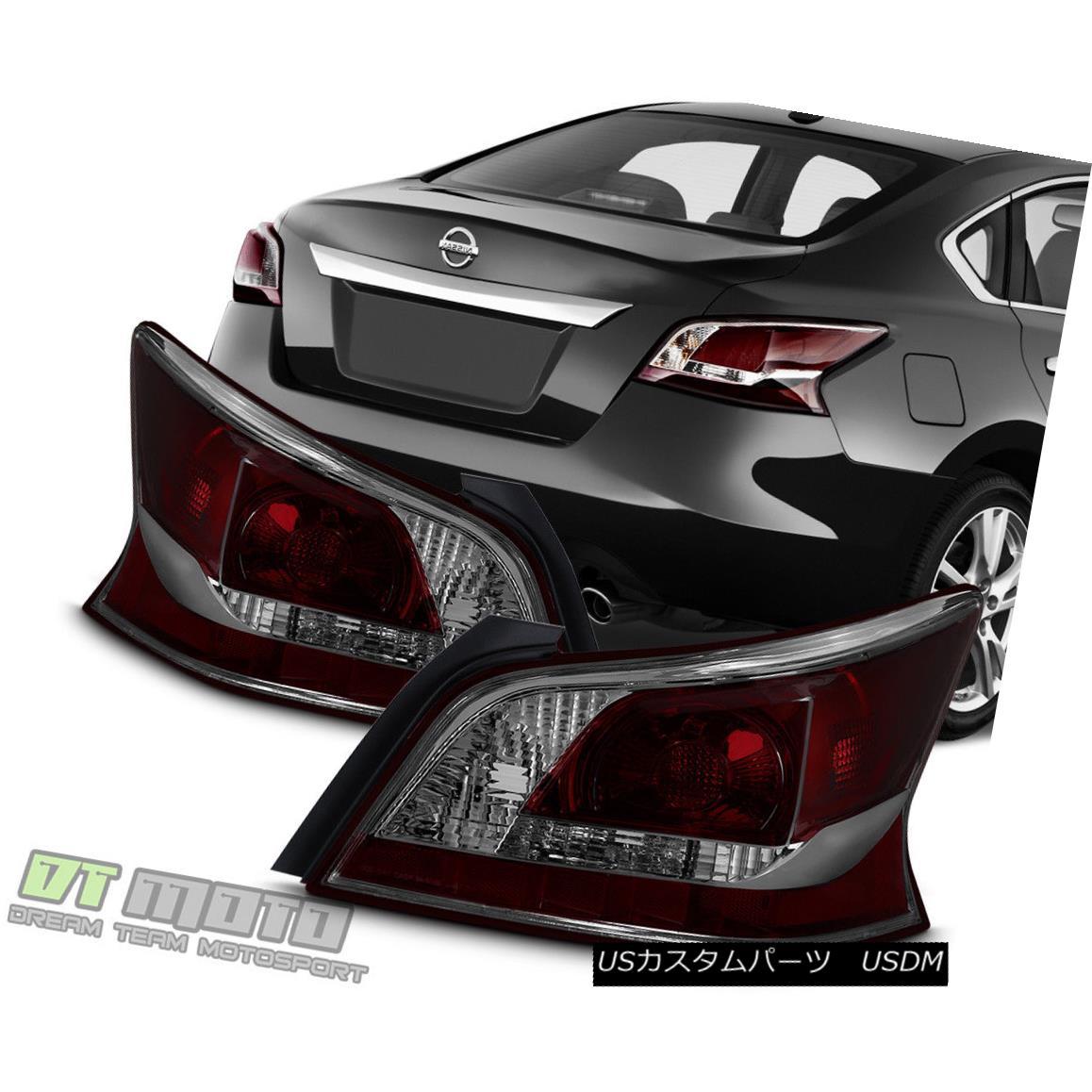 テールライト NEW Smoke Lens Tail Lights Brake Lamps For 2013-2015 Altima 4Dr Sedan Left+Right NEWスモークレンズテールライトブレーキランプ(2013-2015年)Altima 4Drセダン左+右
