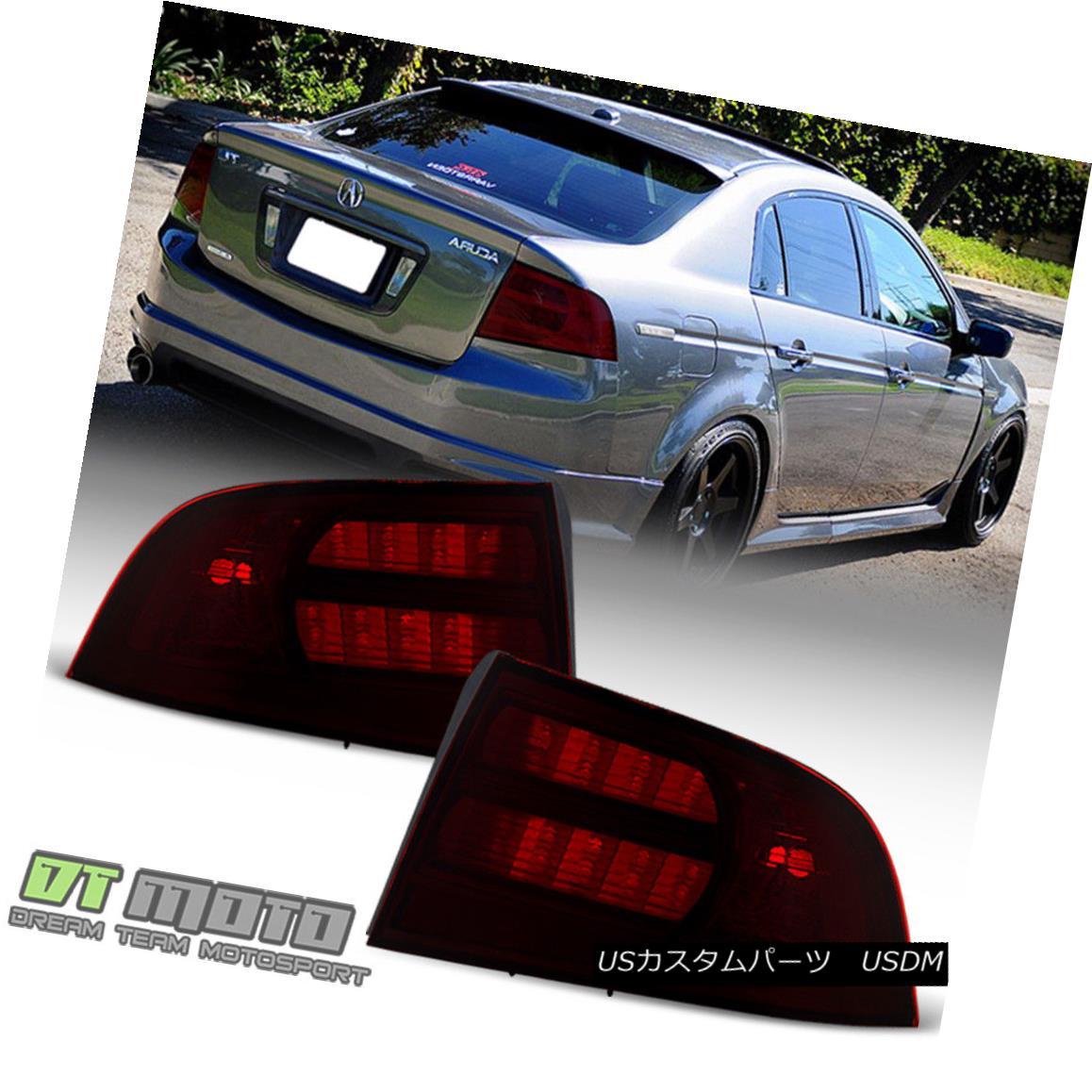 テールライト Red Smoke 2004 2005 2006 2007 2008 Acura TL Type-S Tail Lights Lamps Aftermarket レッドスモーク2004 2005 2006 2007 2008アキュラTLタイプ-Sテールライトランプアフターマーケット