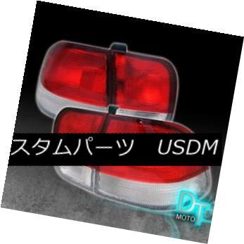 テールライト For 1996-1998 Honda Civic Sedan 4Dr JDM Red Clear Tail Lights Lamps Left+Right 1996-1998 Honda Civic Sedan 4Dr JDMレッドクリアテールライトランプ左+右