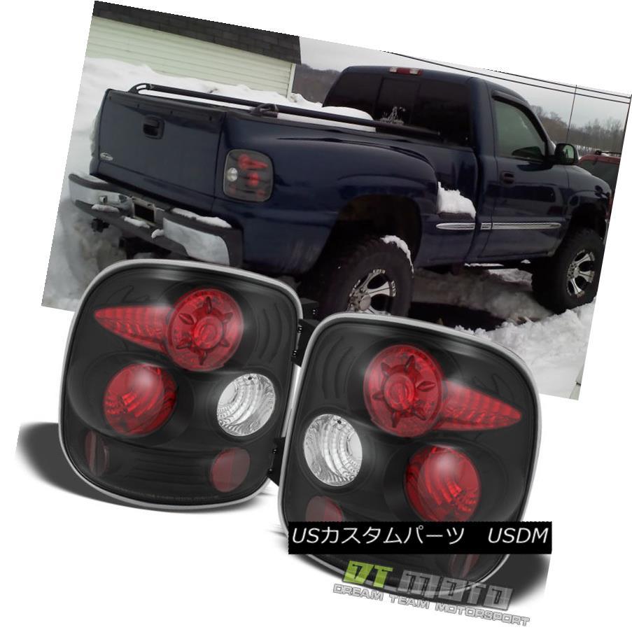 テールライト 99-04 Silverado Sierra Stepside Black Rear Tail Brake Lights Lamps Left+Right 99-04 Silverado Sierra Stepsideブラックリアテールブレーキライトランプ左+右