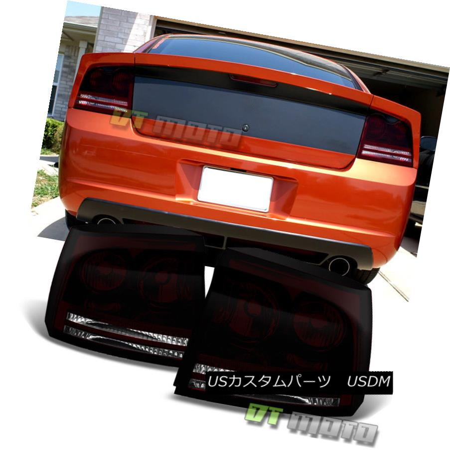 テールライト Blk Tinted 2006 2007 2008 Dodge Charger Tail Lights Brake Lamps 06-08 Left+Right Blk Tinted 2006 2007 2008 Dodge Chargerテールライトブレーキランプ06-08 Left + Right