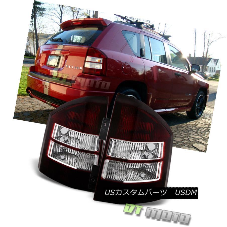 テールライト 2007-2010 Jeep Compass Smoked Tail Lights Brake Lamps Left+Right 07 08 09 10 2007-2010ジープコンパススモークテールライトブレーキランプ左+右07 08 09 10