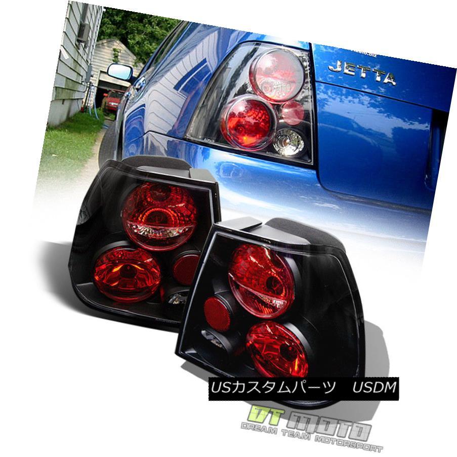 テールライト Black 1999-2005 VW Jetta MK4 Rear Tail Lights Lamps Left+Right Aftermarket 99-05 ブラック1999-2005 VWジェッタMK4リアテールライトランプ左+右アフターマーケット99-05