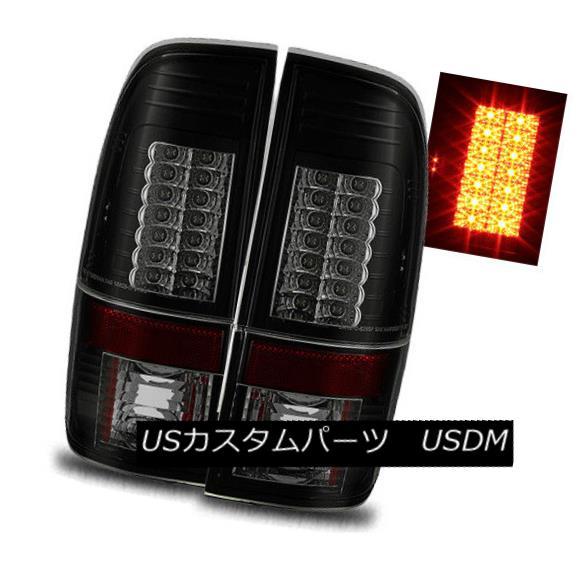 テールライト For 97-03 Ford F150/F250 Styleside Black Smoke LH+RH LED Tail Lights Brake Lamps 97-03 Ford F150 / F250用Styleside Black Smoke LH + RH LEDテールライトブレーキランプ