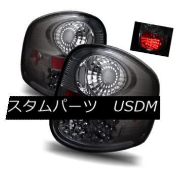 テールライト For 01-03 Ford F150 Supercrew Smoke Left+Right LED Tail Lights Rear Brake Lamps 01-03 Ford F150スーパークライムスモーク左+右LEDテールライトリアブレーキランプ