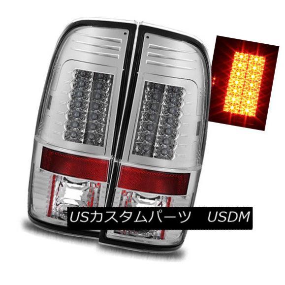 テールライト For 99-07 F250/F350/F450/F550 Super Duty Chrome LED Tail Lights Rear Brake Lamps 99-07 F250 / F350 / F450用 / F550スーパーデューティクロームLEDテールライトリアブレーキランプ