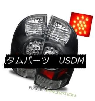 テールライト For 05-08 Toyota Tacoma PreRunner/X-Runner Black LED Tail Lights Brake Lamps 05-08のためにトヨタタコマPreRunner / X-Ru nnerブラックLEDテールライトブレーキランプ