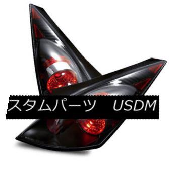 テールライト For 03-05 Nissan 350Z Black Left/Right Altezza Tail Lights Rear Brake Lamps 03-05日産350Zブラック左/右Altezzaテールライトリアブレーキランプ