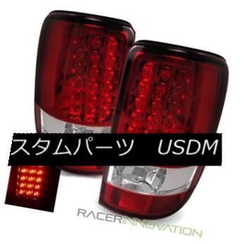 テールライト For 00-06 Chevy Tahoe Red Clear LED Tail Lights Rear Brake Lamps 00-06 Chevy Tahoeレッドクリアテールライトリアブレーキランプ