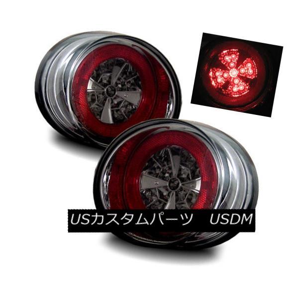 テールライト For 05-10 Chevy Cobalt 4DR Smoke Left+Right LED Tail Lights Rear Brake Lamps 05-10 Chevy Cobalt 4DRスモーク左+右LEDテールライトリアブレーキランプ
