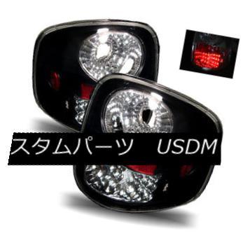 テールライト For 01-03 Ford F150 Supercrew Black Left+Right LED Tail Lights Rear Brake Lamps 01-03フォードF150スーパークルーブラック左+右LEDテールライトリアブレーキランプ